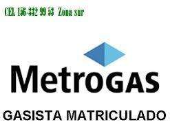 METROGAS Quilmes gasista matriculado156/3329953