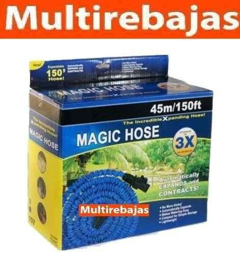 Manguera Expansible 7 Chorros 45m Magic Hose