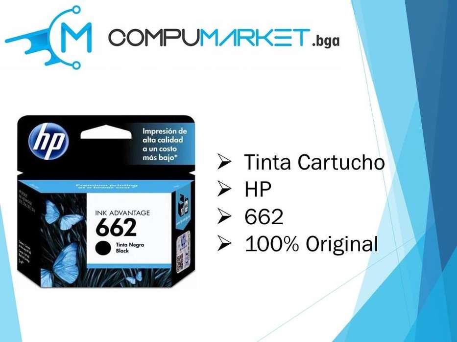 Cartucho de tinta HP negro 662 100% original nuevo y facturado