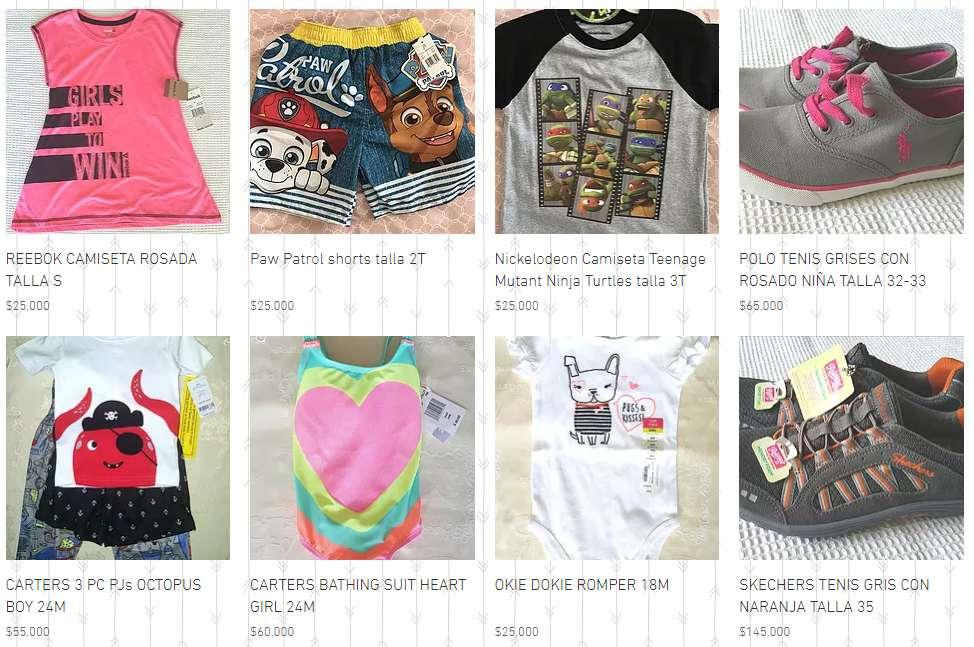 Ropa de marca para niños y niñas importada USA