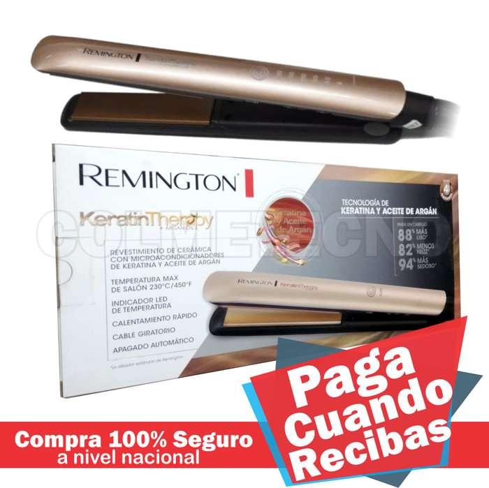 Plancha de cabello Original Remington con Keratina y Aceite de Argán