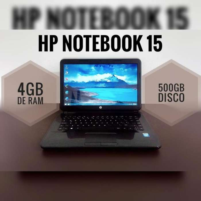 Portátil notebook hp 4gb ram 500gb dd intel celeron 2.0ghz