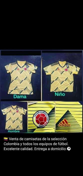 Camisetas Colombia Y Todos Los Equipos