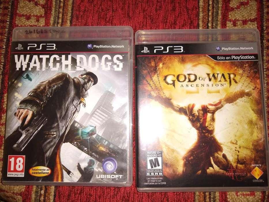 Vendo Juegos de Ps3watchdogs, God Of War