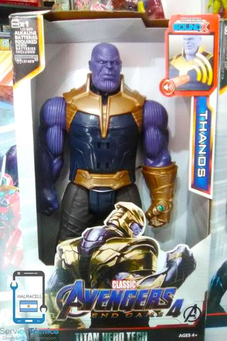 Muñecos articulados de Avengers 4 End Game c/ luz y sonido!!