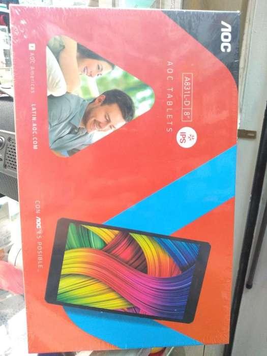 Tablet Aoc con Chip 4g 8 Pulgadas