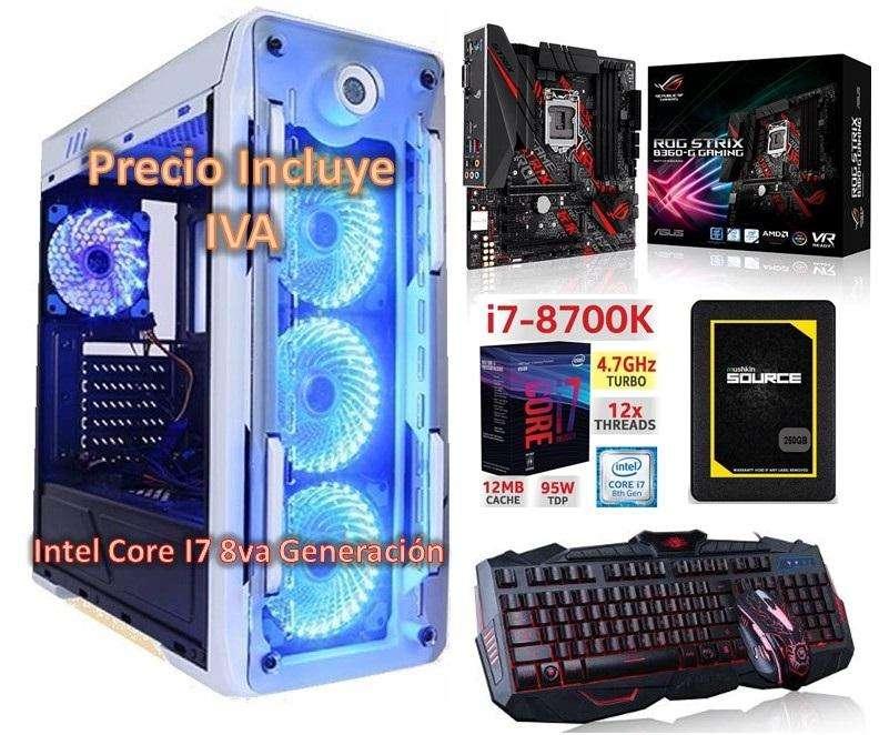 Computador Intel I7 8700k 8va Generacion Diseñador 2tb 250gb SSD 32gb Cpu PRECIO INCLUYE IVA ENTREGA A DOMICILIO