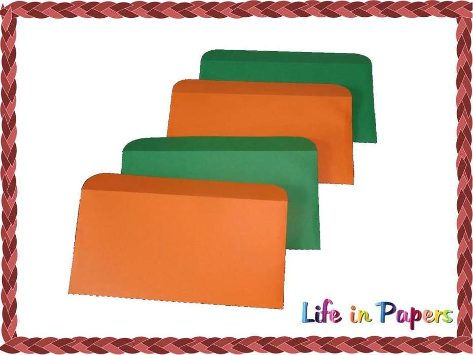 Sobres regalo lisos papel iris colores 14cm x 7cm
