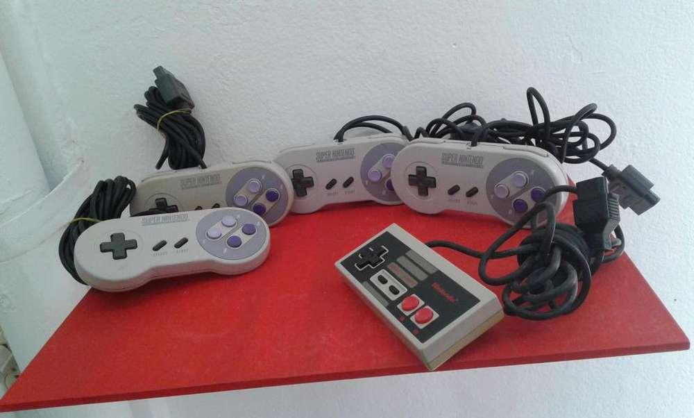 controles super Nintendo y Nes