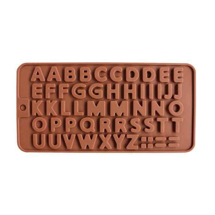 Molde De Silicona Abecedario Letras Para Chocolate