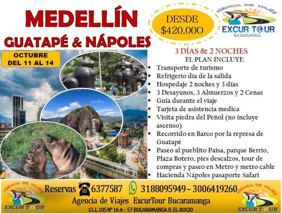 Tour Medellín Guatapé Y Nápoles