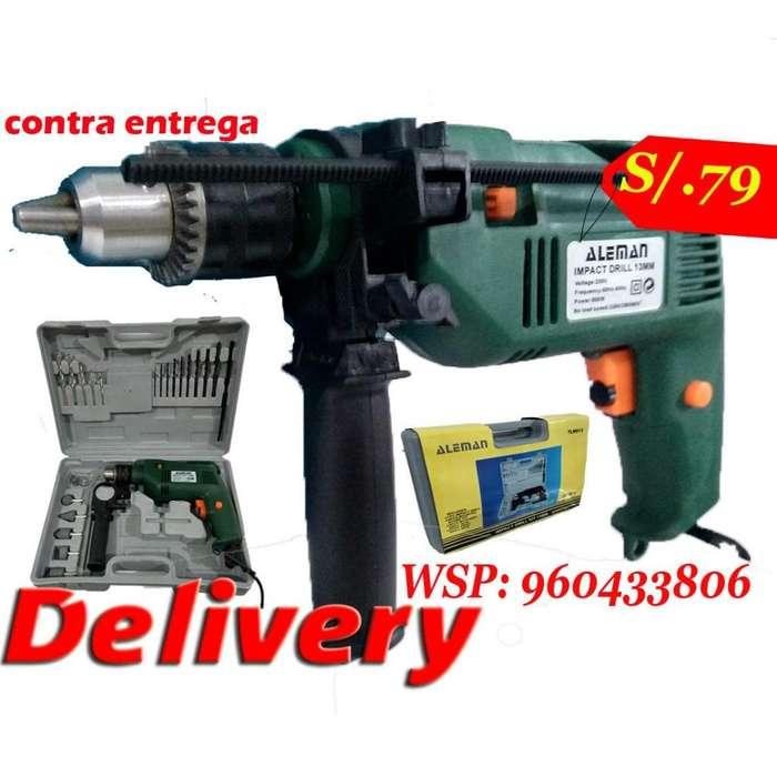 Taladro Electrico Percutor OFERTA destornillador atornillador uso basico 500w