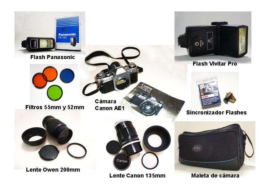 Equipo fotográfico analógico <strong>canon</strong> película 35 mm