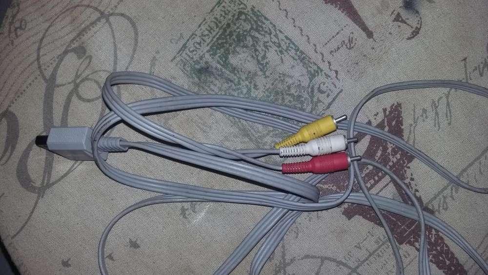 Cable de audio video AV RCA para nintendo wii o wii u