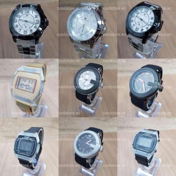 Relojes fossil, gucci, tommy, ck, hublot, casio