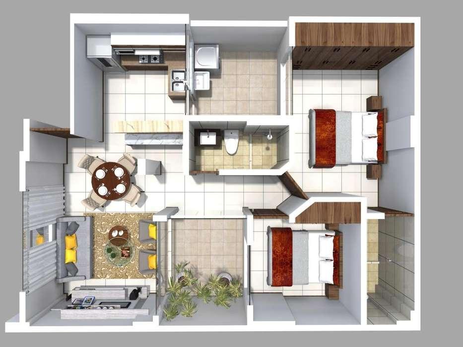 Departamento 1º Piso,Estreno, 85m2, 02Hab, 02 baños, Victor Larco Herrera.