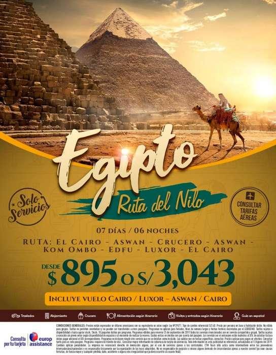 Viaje encantador a Egipto, ruta perfecta. Salida desde Lima