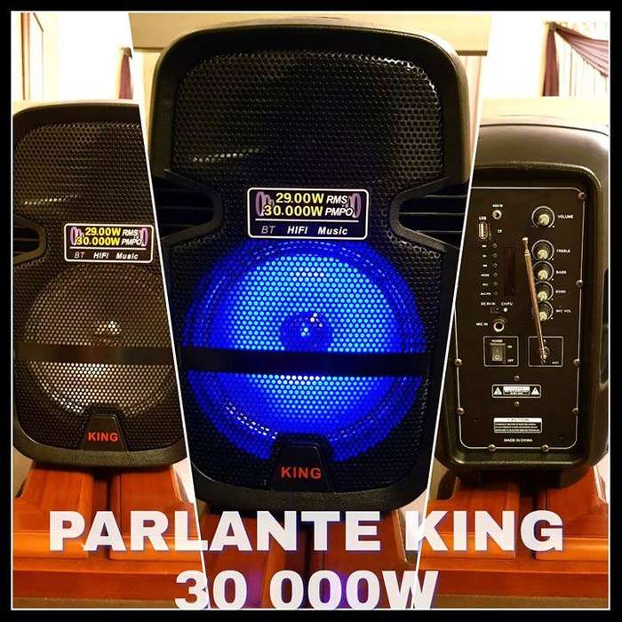 PARLANTE KING BT USB SD BANDA FM SUPER POTENTE