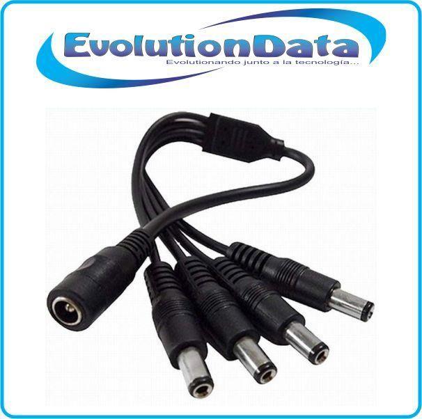 Splitter Pulpo 4 tomas DC Cable Energia Camaras Seguridad CCTV DVR