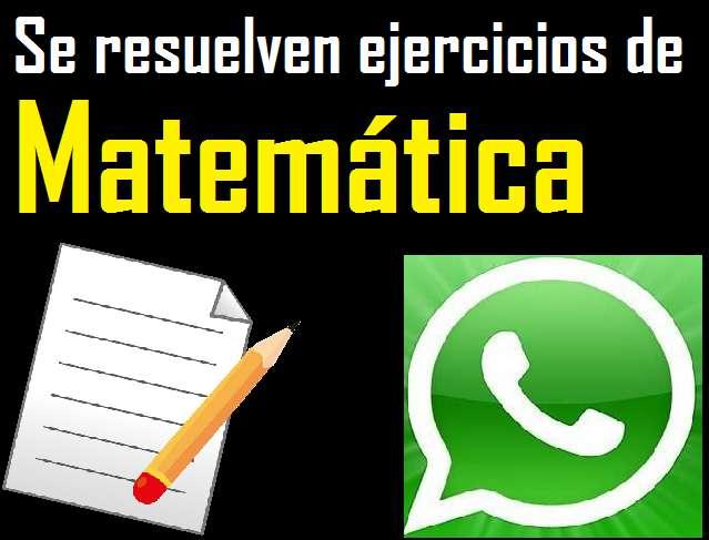 Resuelvo ejercicios de matemática y estadística por WhatsApp, matematica