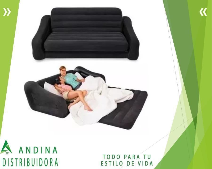 Sofá Cama Inflable Intex 2 Plazas 231x193x71cm