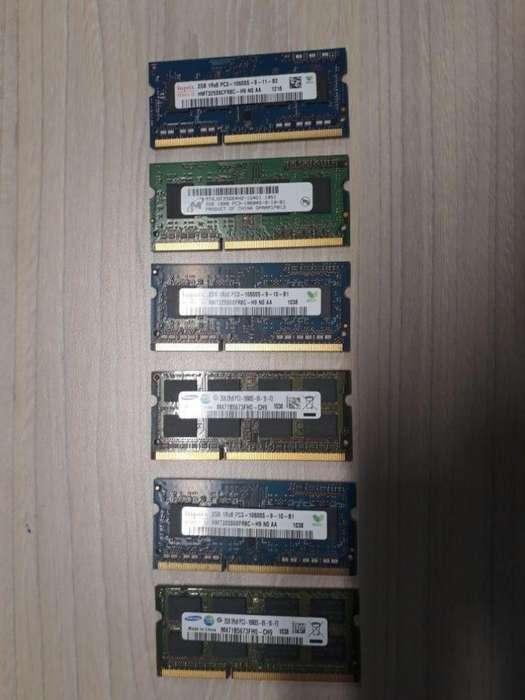 Memorias RAM 2GB para PORTATIL 25000