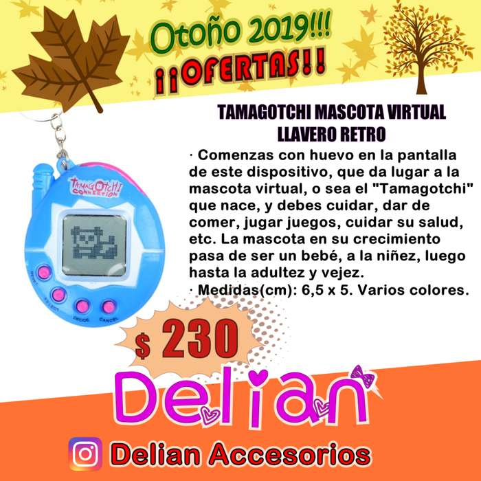 Tamagotchi Mascota Virtual Llavero Juguete Retro