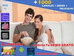 IPTV Televisión Por Internet  3 CONEXIONES