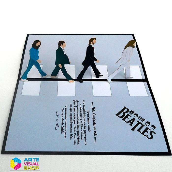 Tarjeta Pop Up The Beatles tarjeta para regalo