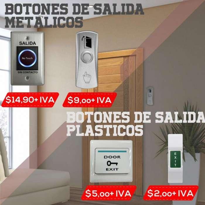 BOTONES DE SALIDA PARA ACCESO/ PLASTICO/METALICO/TOUCH