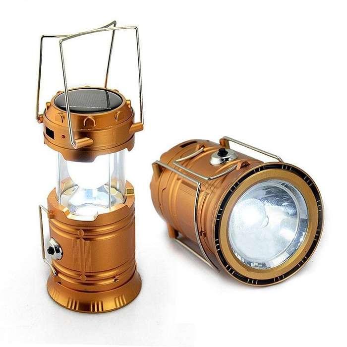 Farol, Linterna, sol de Noche, Recargable, Solar, Multifunsión, USB.