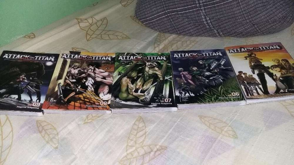 Vendo Mangas de Attack On Titan