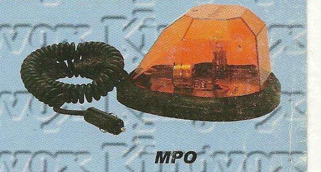BALIZA Magnética formato tipo GOTA para adosar al techo del Vehículo.