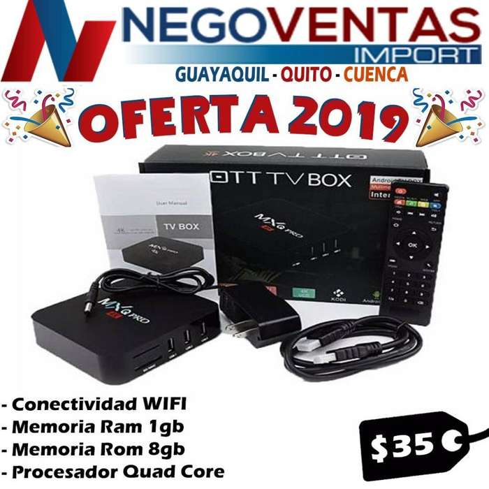 TV BOX MXQ 4K 2GB RAM 16GB INTERNO CONVIERTE A TU TV EN SMART TV DE OFERTA