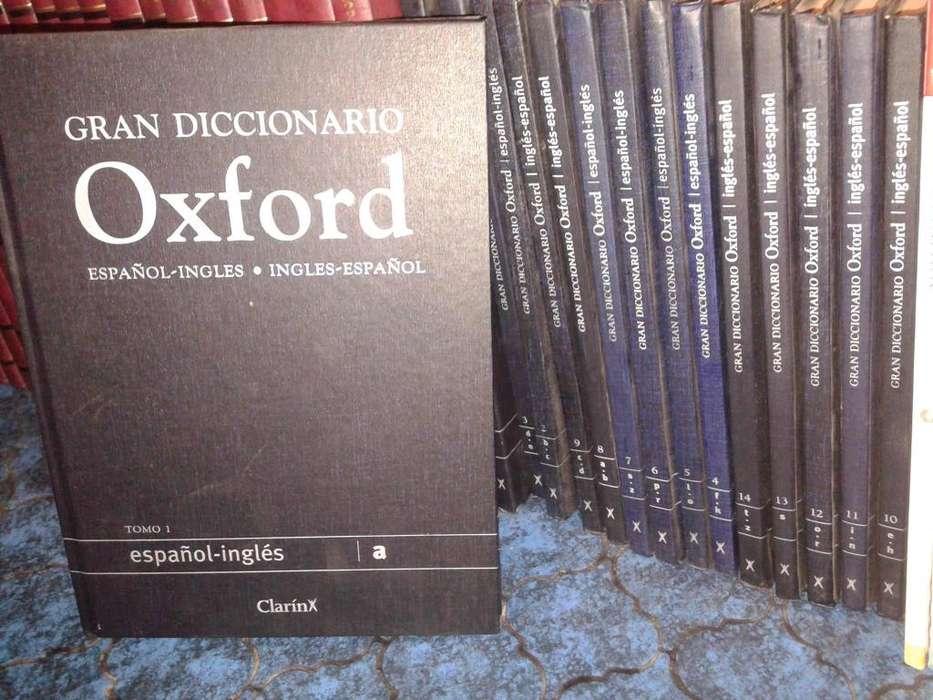 VENDO GRAN DICCIONARIO OXFORD,INGLES CASTELLANO, CASTELLANO INGLES.
