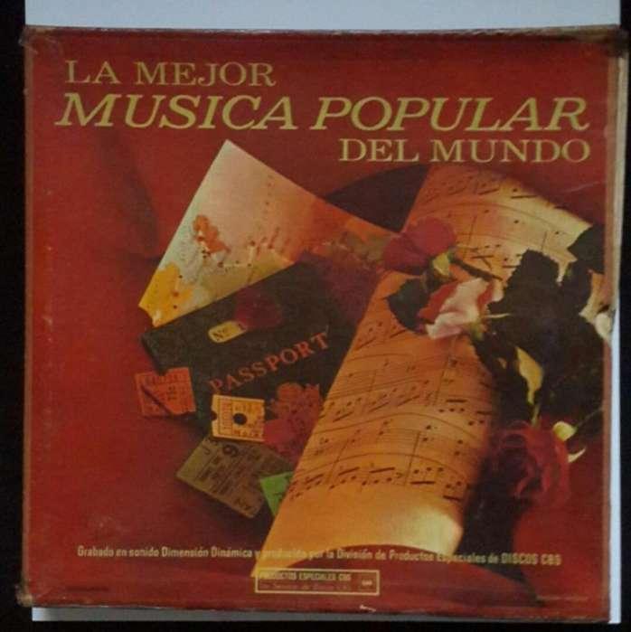 COLECCIÓN DE DISCOS LP La Mejor Musica Popular del Mundo