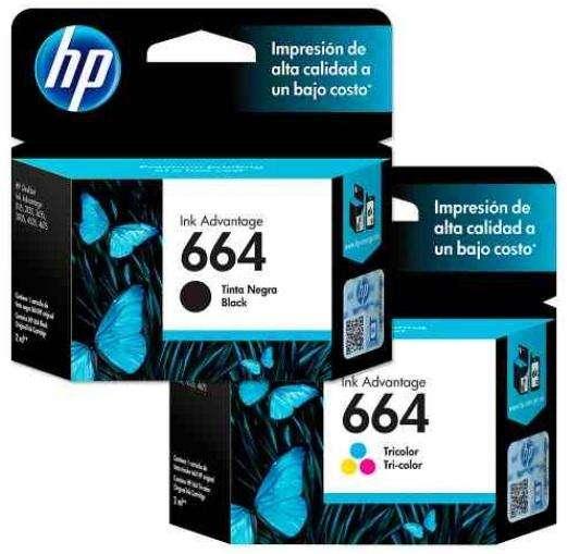 COMBO CARTUCHOS HP 664 NEGRO Y COLOR NUEVOSS