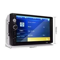 Auto Radio Universal 7 Pulgadas Hd Bluetooth Tactil Mp5 Usb Auxiliar Video Rca Sonido Audio 18x10Cm Oferta