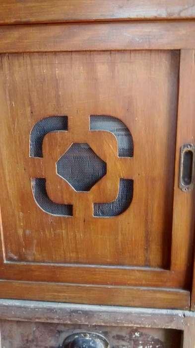 despensa campestre de colgar en madera