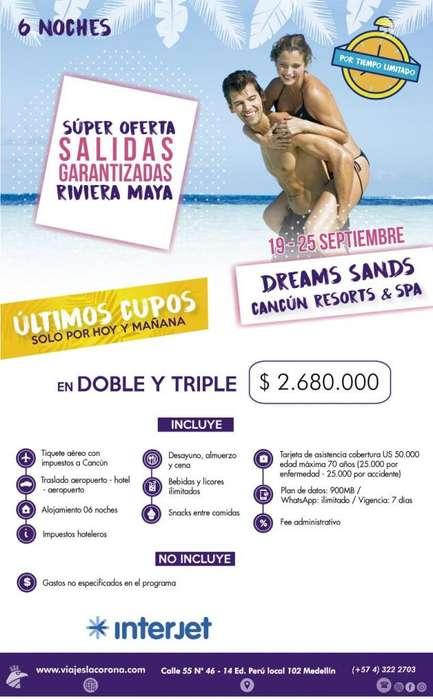 Viaje como un Rey a Rivera Maya H. DREAMS SANDS con Viajes la Corona