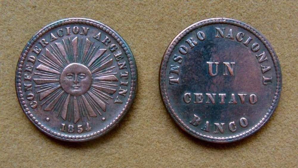 Moneda de 1 centavo Argentina 1854