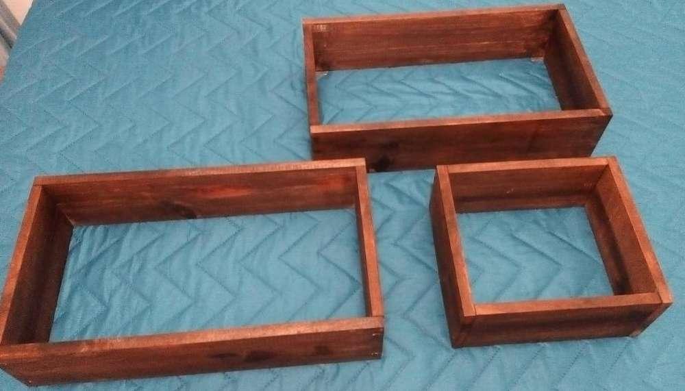 Set estanterías pared en madera