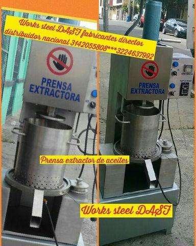 PRENSA EXTRACTORA DE ACEITES- peletizadora paila trilladora samovar pulverizador calderas hiladora