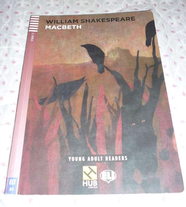 MACBETH . WILLIAM SHAKESPEARE . EN INGLES . YOUNG ADULT READERS . HUB EDITORIAL