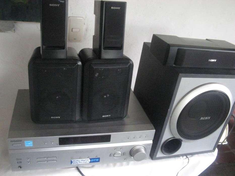 sony amplificador teatro 5.1 con subwoofer 5 parlantes
