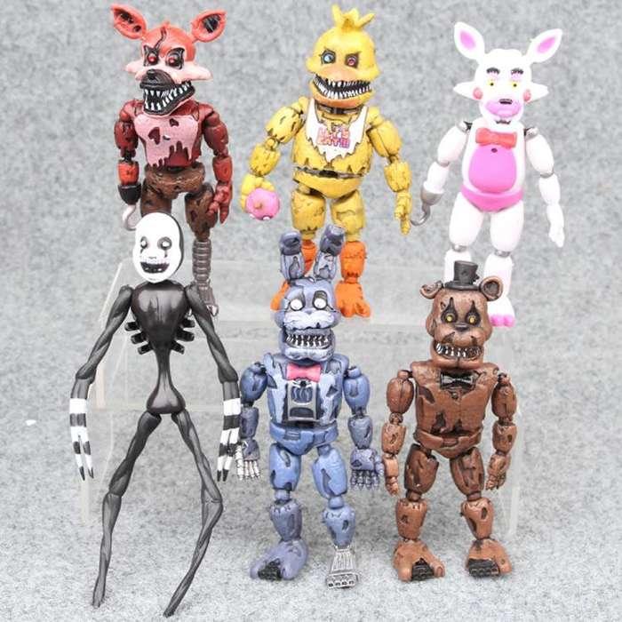 Set 6 Figuras 5 Nights At Freddy's Articulados