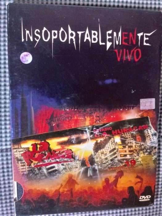 DVD ORIGINAL La Renga INSOPORTABLEMENTE VIVO