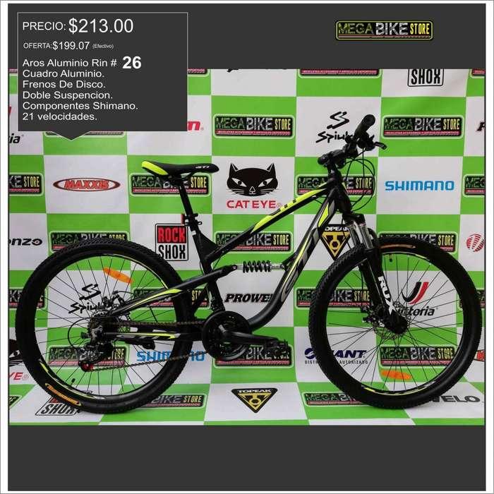 Bicicleta Doble suspension Aro 26 en !OFERTA¡ de aluminio con componentes SHIMANO