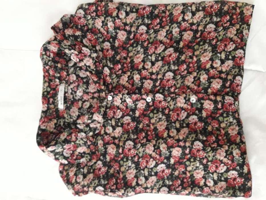 <strong>camisa</strong> de mujer floreada talle s