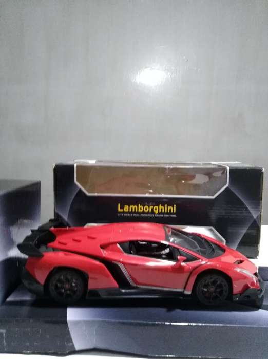 Rc Lamborghini 1:18 Rojo a Control